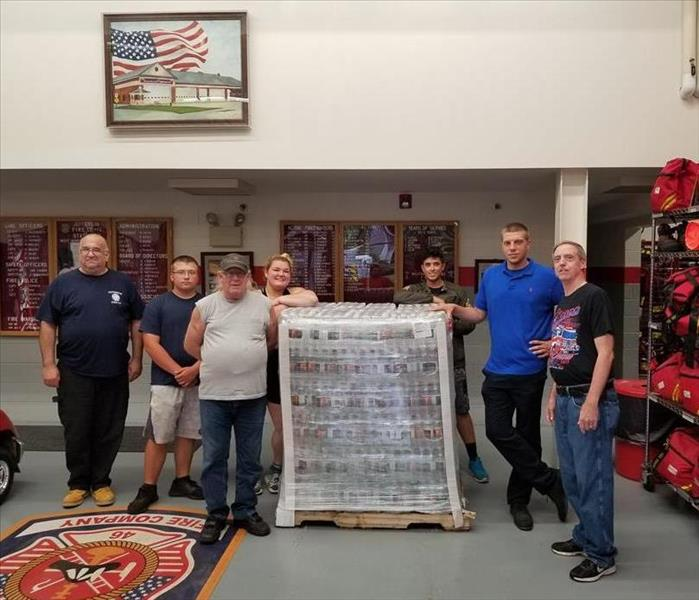 Water Pallet Donation to Jefferson Fire Company 1