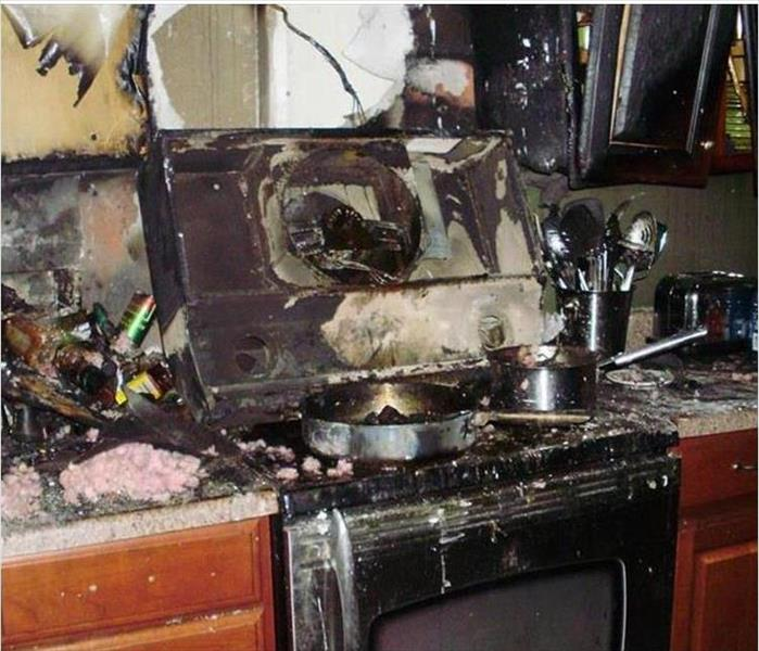 Fire-Ravaged Kitchen in Philadelphia