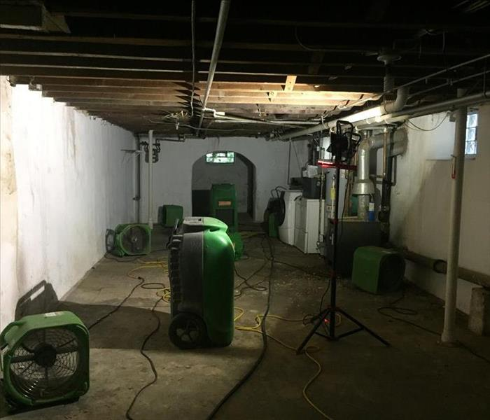 Why Ground Water Comes Up Through Basement Floors: SERVPRO Pumps And Pumps Water Out Of Your Mt Airy Basement After Flooding